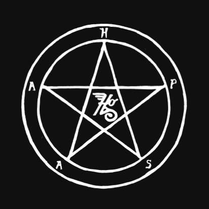 Hapas Logo inside pentagram